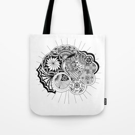 Planets aligned in Love Tote Bag
