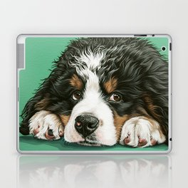 Cute Bernese Mountain Dog Puppy Pet Portrait Laptop & iPad Skin