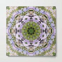 Lacy Lavender Wild Bergamot Kaleidoscope Metal Print