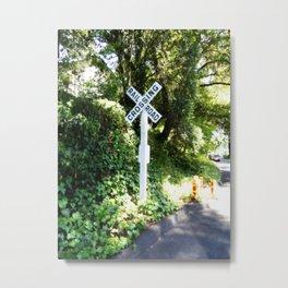 Korbel Rail Road Crossing Metal Print