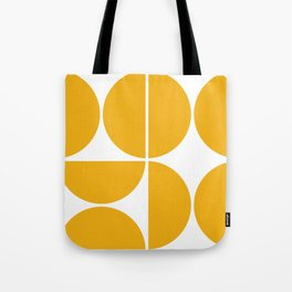 Mid Century Modern Yellow Square Tote Bag