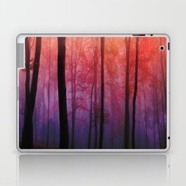Whispering Woods, Colorful Landscape Art Laptop & iPad Skin