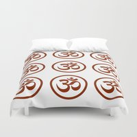om Duvet Covers featuring Om  by krossculture