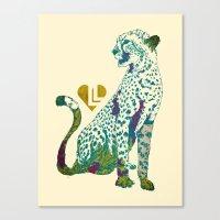 cheetah Canvas Prints featuring Cheetah by Danny Haas