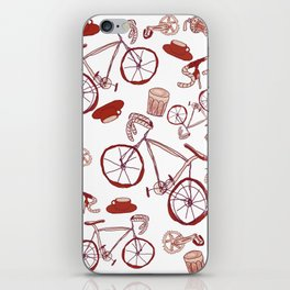 Bikes and Coffee iPhone Skin