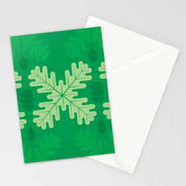 Oak Leaves in Summer – Green Stationery Cards