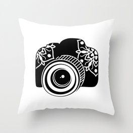Camera Design Throw Pillow