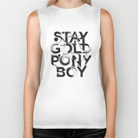 stay gold Biker Tanks featuring Stay Gold by Lucas Young