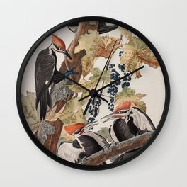 John James Audubon -Woodpecker Wall Clock