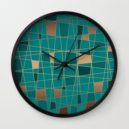 Abstract geometric pattern 11 Wall Clock