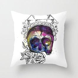 Zen Skull Throw Pillow