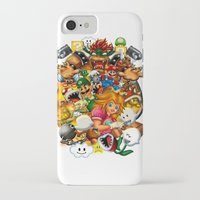 mario bros iPhone & iPod Cases featuring Super Mario Bros. Battle by Magik Tees