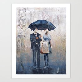 Their Umbrella Art Print