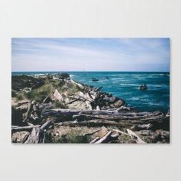 Jetty Fishing    Oregon Coast Canvas Print