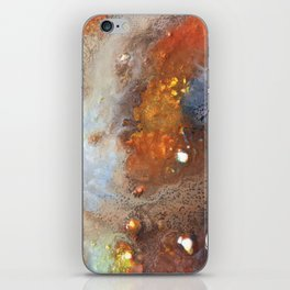 Crater Original Abstract Painting, Mixed Media On Canvas iPhone Skin