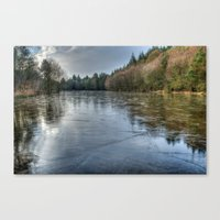 frozen Canvas Prints featuring  Frozen by David Tinsley