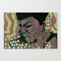 scream Canvas Prints featuring scream by Iconic Arts