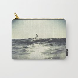 SUP board surfer at Sunset vintage Film simulation Carry-All Pouch