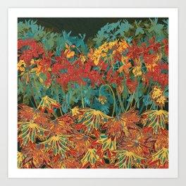 Fancy-Leaf Geraniums Art Print
