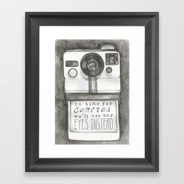 No Time for Cameras Framed Art Print