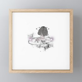 A Girl In Her Own Zone Framed Mini Art Print