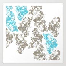 Ginkgo Fossils - Light Art Print