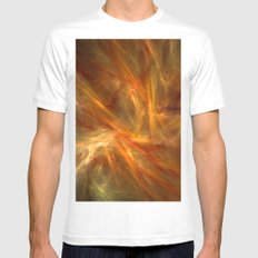 Fire Mens Fitted Tee White MEDIUM