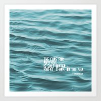 the cure Art Prints featuring SaltWater Cure by Christine Hall