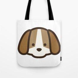 Puppy Dog Emoji Tote Bag