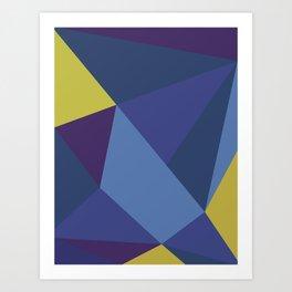 Purple Geometry Art Print