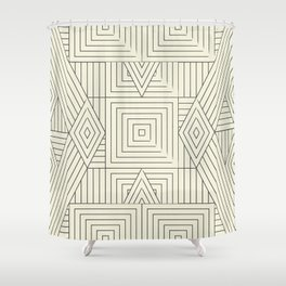 Mudcloth bege Shower Curtain
