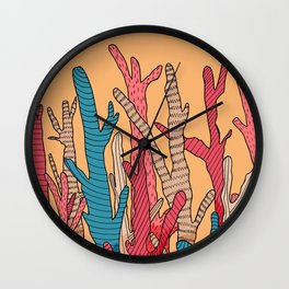 The tall coral Wall Clock