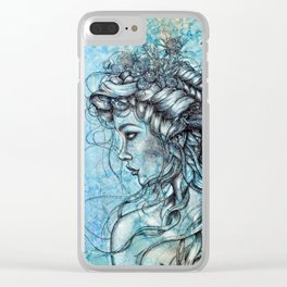 Guarded Tenderness Clear iPhone Case