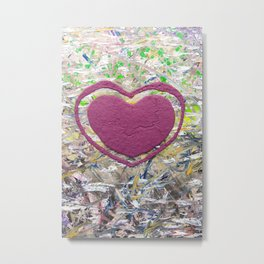 A Scattered Brain Full of Heart 1  Metal Print