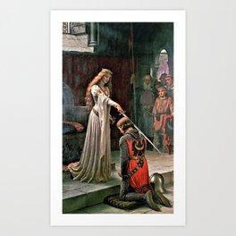Edmund Blair Leighton - Accolade - Edmund Blair Leighton Art Print