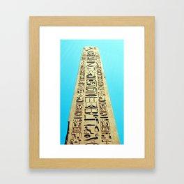 Egyptian Obelisk, Luxor, Egypt Framed Art Print