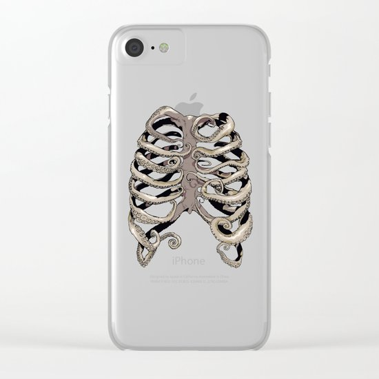 Your Rib is an Octopus Clear iPhone Case