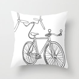 helibike Throw Pillow