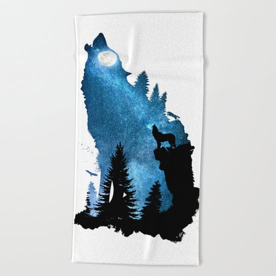 The Howling Wind Beach Towel
