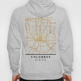 COLUMBUS OHIO CITY STREET MAP ART Hoody