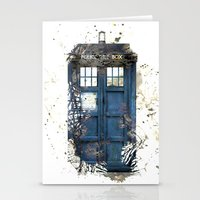 tardis Stationery Cards featuring Tardis by Abbie :)