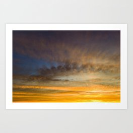 Beauty colors of the sky  at sunset Art Print