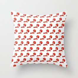 Red Squirrell Throw Pillow