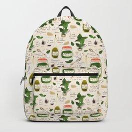 Pesto. Illustrated Recipe. Backpack