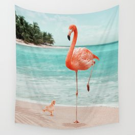 WANNABE FLAMINGO Wall Tapestry