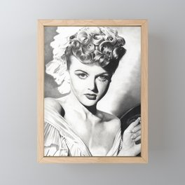 Angela Lansbury Framed Mini Art Print
