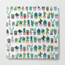 Plants in line Metal Print