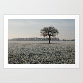 Winter in Yorkshire Art Print