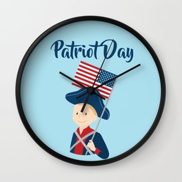US flag held high for those who died - Patriot Day - September 11 Wall Clock