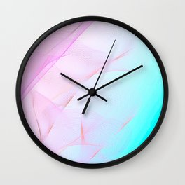 Pastel Motion Vibes - Pink & Turquoise #abstractart #homedecor Wall Clock